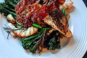 PAUL WATTERS: Oven roasted Irish salmon on a bed of spaghetti
