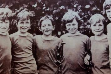 A stroll down memory lane for young footballers