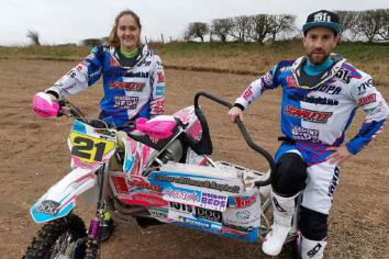 Niki and Emma gunning for sidecarcross glory
