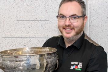 Antrim bookie defies the odds to win NI Amateur snooker title and book his place in professional event at Belfast's Waterfront Hall later this year