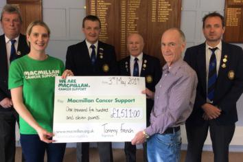 Tommy and friends raise £1500 for Macmillan Cancer Support