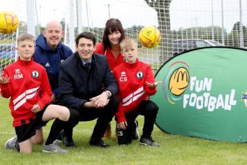 Football fever hits Antrim!