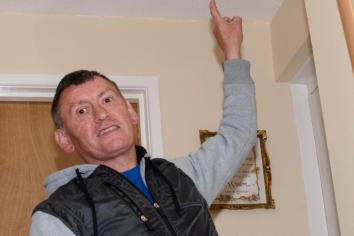 Antrim man left living in fear from the 'deadly' asbestos found in his Housing Executive home
