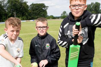 Children are bowled over by Muckamore CC Summer Scheme