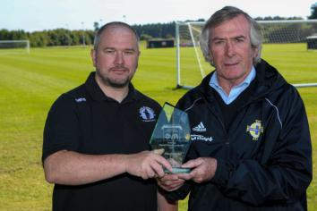 Back of the net! Sports award for Antrim Rovers