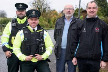 Police join drive to improve road safety in Templepatrick