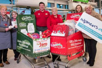 Asda shoppers give gift of Christmas to The Jam Store and Women's Aid