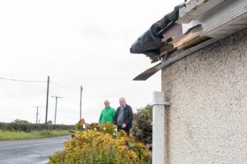 'Slow down' plea as car strikes house roof