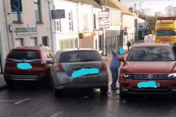 Police search for driver in Randalstown 'hit and run'