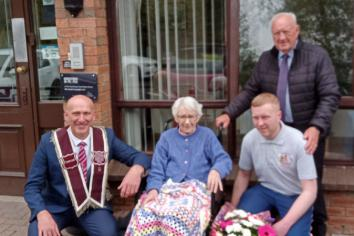 Community group drops in on Randalstown centenarians