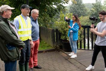 Lights camera, action for Tidy Randalstown as the Royal Horticulture Society drop by!